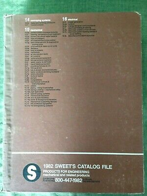Vintage 1982 Sweet's Catalog File Products For Engineering Mechanical & Related