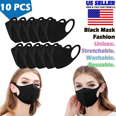 10 pcs Reusable Washable Cloth Protection Face Cover Stretch Fashion Mask