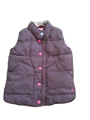 Joules Girl's Brown Gillet Body Warmer Vest Jacket Age 8
