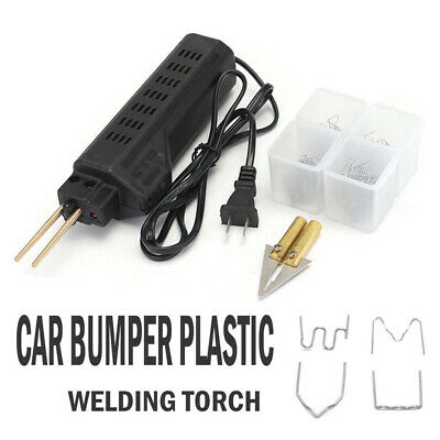 Car Bumper Fender Fairing Repair Kit Plastic Hot Stapler Welding Gun Staple T3E8