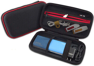 GHKJOK Electronic Accessories Carry Bag, Double Layer Travel Case for Cables,