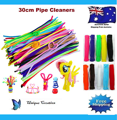 50 infuse Pipe Cleaners Chenille Stems Craft Sticks 30cm Craft Pipecleaners