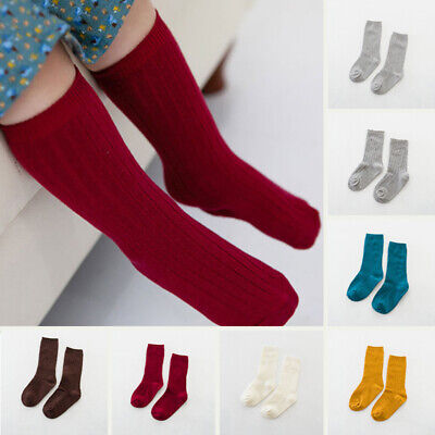Kids Baby Girls Breathable Stretchy Warm Cotton Socks Soft Comfy Knit Hosiery