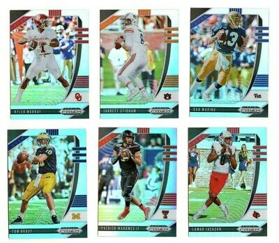 2020 Panini Prizm Draft Picks Football Silver Prizm Singles : Stars and Rookies