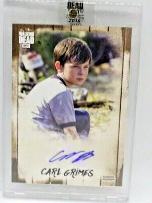 2018 Topps Walking Dead Chandler Riggs Carl Grimes Autograph Card #45/69