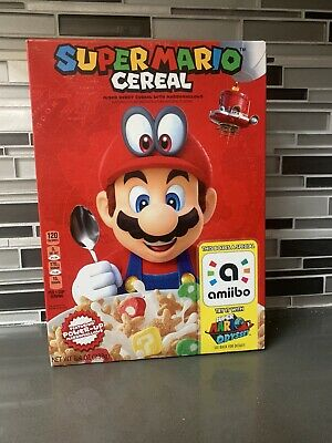 Super Mario Amiibo Cereal Factory Sealed Brand New