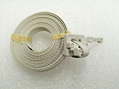 """150 Polypropylene Pre-Cut Strapping 1/2"""" x 17' Buckle Attached - WHITE"""