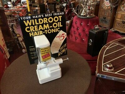 "1950's 5 Cent Wildroot Hair Tonic Dispenser Vending Machine ""Watch Video"""