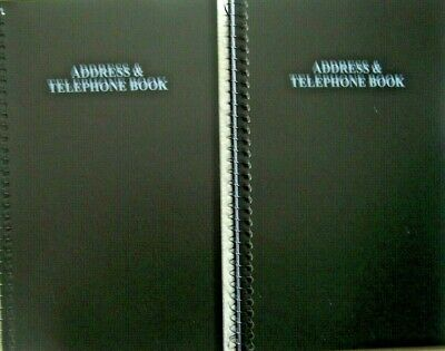 2 New Address & Telephone Books each Holds 400 Entries 16 per letter FREE SHIP
