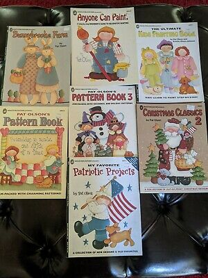 7 Pat Olson Decorative Painting Pattern Book Lot