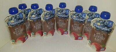 Happy Baby Organic Clearly Crafted Stage 2 Baby Food-Apples, Blueberries & Oats