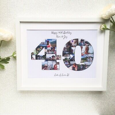 Personalised Photo Collage A4 Print Birthday 40th 30th Any Age