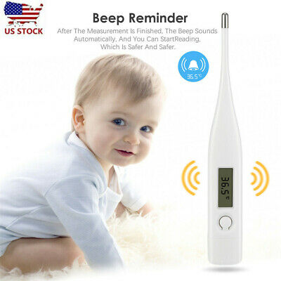 Baby Adult Body Kids Safe Ear Mouth Medical Temperature Digital LCD Thermometer