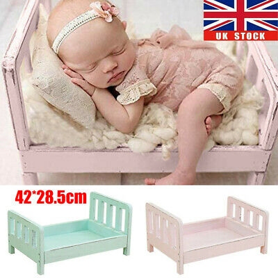 Newborn Posing Baby Photography Props Wood Bed Studio Crib Props for Photo Shoot
