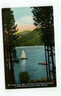 "Antique Rocky Mountain NP Post Card ""Grand Lake"""