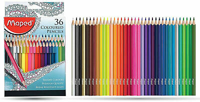 Maped Colouring Pencils pack of 36 with Colouring book in pouch