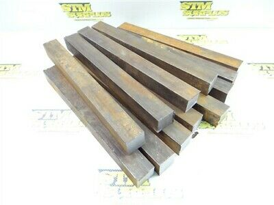 "34Lb 1018 Solid Steel Bar Stock 1"" X 1"" X 9"" To 11"" Lengths"