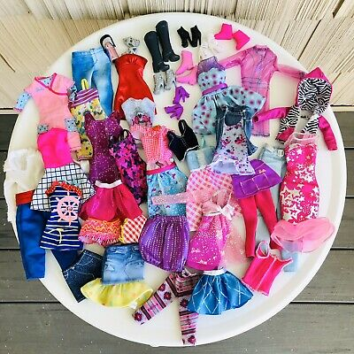 LOT of Barbie Doll Clothes Clothing Jackets Dresses Pants Shirts Tops Shoes