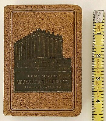 Antique Advertising Book Bank AID ASSOCIATION for LUTHERANS Appleton Wis No Key