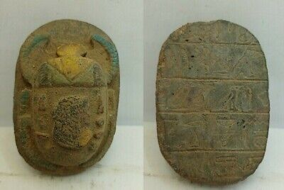 Rare Ancient Egyptian Antique Queen Scarab 1718-1559 Bc