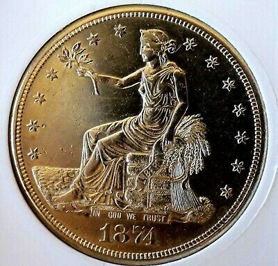 Trade Dollar 1874 S Blazing Bu Pl Proof Look Very Nice Estate Coin Must Have Pq