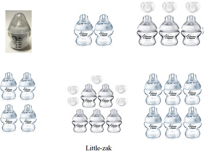 Tommee Tippee Closer to Nature 150ml bottles sealed with soother No Box