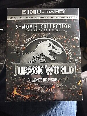 Jurrasic Park 5 - Movie Collection 4k + Blu Ray + Digital New And Sealed