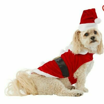 Merry & Bright Santa Pet Halloween Party Costume for Dog Cat