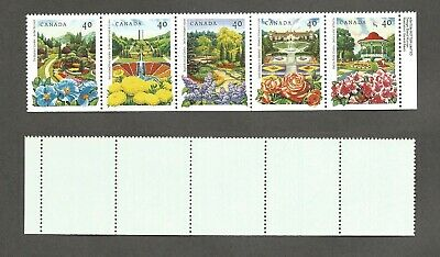 Canada - Flower Gardens se-tenant strip - Scott# 1315a -  Mint Never Hinged