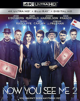 Now You See Me 2 [4K Ultra HD + Blu-ray + Digital HD], New DVDs