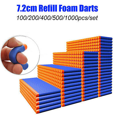 Lot 100-1000Pcs Soft Bullet Darts For Kids Toy Gun Blasters Gift