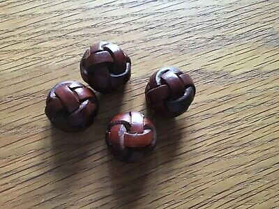 20mm 32L Chocolate Brown Leather Effect Aran Football Quality Shank Buttons Z93X