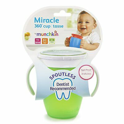 Munchkin Miracle 360 Trainer Cup, Green/Blue, 7 Oz, 2 Count -free shipping to us