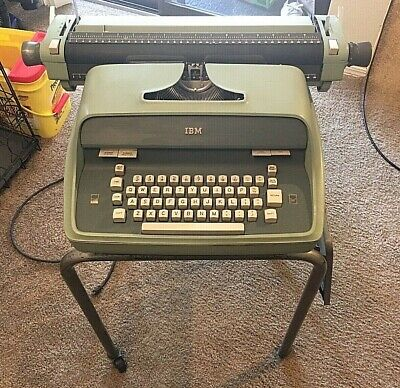Vintage Ibm Typewriter****Working***Green