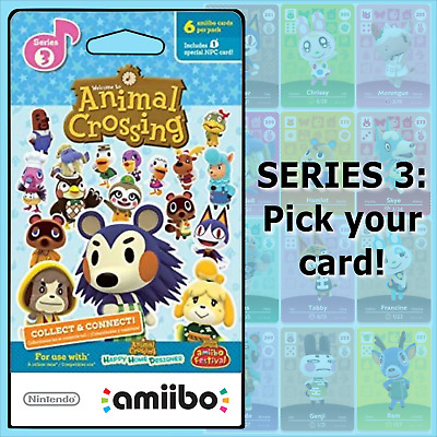 Animal Crossing Amiibo Cards Series 3 #201-300 US/NA Version Authentic OOP MINT!