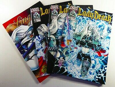 Chaos! LADY DEATH WICKED WAYS (1998) #1-3 + LINGERIE #1 Lot VF to VF/NM