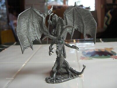 Rawcliffe Chaos Commander War Dragon Pewter  Ral Partha Dungeons Dragons