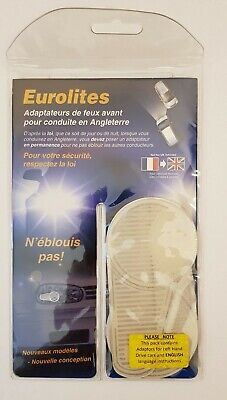 Eurolites Anti Scorch Headlamp Headlight Beam Reflectors Adaptors FRENCH to UK