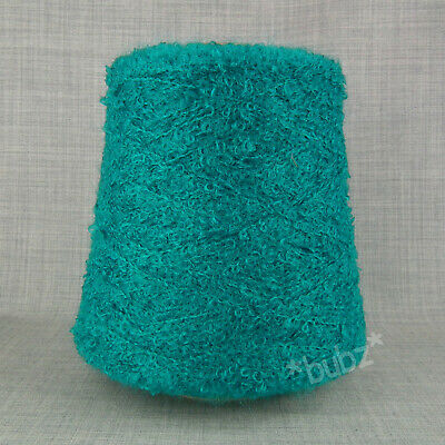 SOFT WOOL MOHAIR LOOP BOUCLE YARN 500g CONE JADE TURQUOISE DOUBLE KNITTING DK