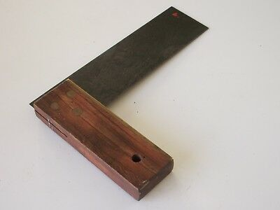 Rosewood & Brass Vintage Square -- 6 Inch