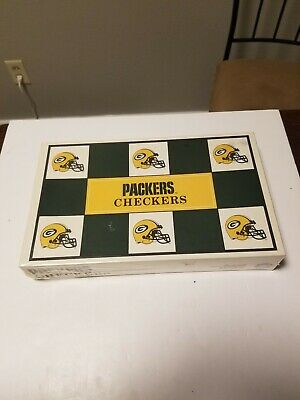 Vintage 1993 Green Bay Packers Checkers Set, Vs. The Chicago Bears, New Sealed
