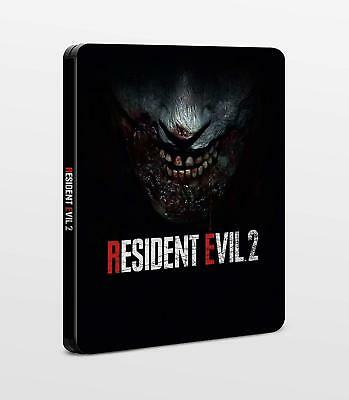 RESIDENT EVIL 2 REMAKE NEW in FOIL STEELBOOK ONLY PS4 PC XBOX G2 SIZE METAL CASE
