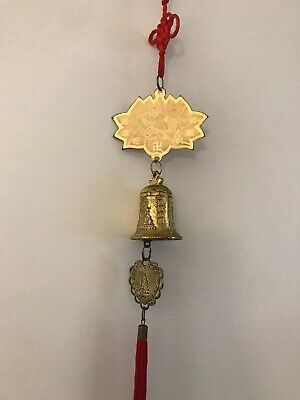 Feng Shui Old Brass Peaceful Bell With Chinese Tassel Car/ Home Hanging Ornament
