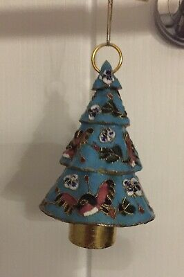 Chinese Handmade Cloisonne Christmas Tree Decoration Hanging Ornament New