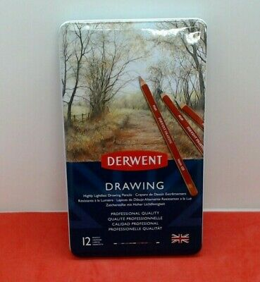 Derwent Coloured Drawing Pencils - Tin of 12