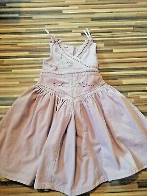 Lovely Girls Monsoon Size 4-5 Years Dusky Pink Fine Cord Pinafore Dress