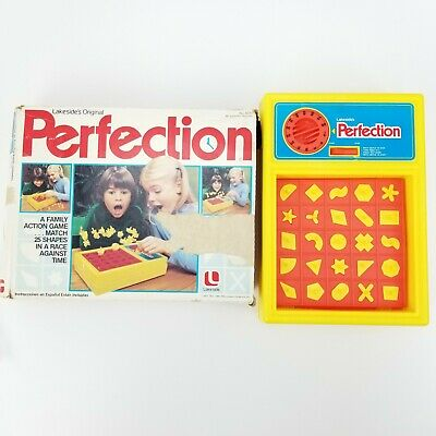 Vtg 1982 Perfection Family Action Puzzle Game By Lakeside 100% Complete & Tested