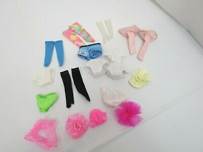 Lot Of Barbie Doll Vintage Or Older Clothing Panties Gloves Head Piece Free Ship