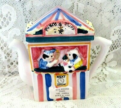 RETRO GUY HIGGINS PUNCH & JUDY SHOW HANDPAINTED TEAPOT by REGENCY FINE ARTS