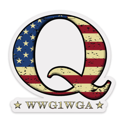 QAnon USA Flag Q Decal WWG1WGA Sticker CLEAR Q Anon Great Awakening Transparent